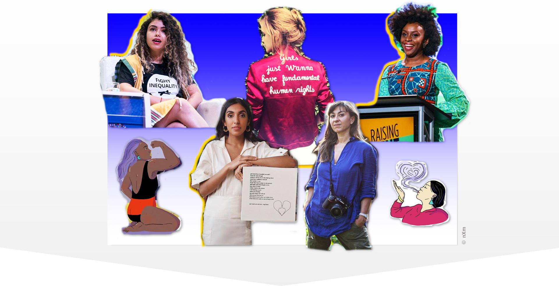 Collage mit sechs inspirierenden Frauen