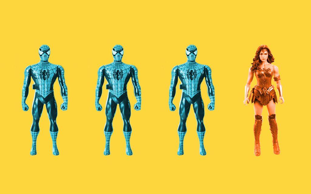 Figuren zeigen, dass nur jede vierte Figur im Kinder Film weiblich ist